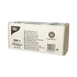 20 x  200 Blatt Handtuchpapier V-Falz 23 cm x 25 cm natur Zick Zack, 1-lagig