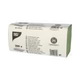 20 x  200 Blatt Handtuchpapier V-Falz 23 cm x 25 cm grün Zick Zack, 1-lagig
