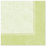 5 x  50 Servietten ROYAL Collection 1/4-Falz 40 cm x 40 cm hellgrün Linum