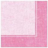 5 x  50 Servietten ROYAL Collection 1/4-Falz 40 cm x 40 cm rosa Linum