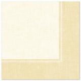 5 x  50 Servietten ROYAL Collection 1/4-Falz 40 cm x 40 cm champagner Linum