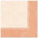 5 x  50 Servietten ROYAL Collection 1/4-Falz 40 cm x 40 cm terracotta Linum