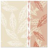 5 x  50 Servietten ROYAL Collection 1/4-Falz 40 cm x 40 cm rot Autumn