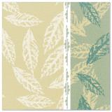 5 x  50 Servietten ROYAL Collection 1/4-Falz 40 cm x 40 cm grün Autumn
