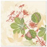 5 x  50 Servietten ROYAL Collection 1/4-Falz 40 cm x 40 cm Autumn Leaves