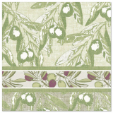 5 x  50 Servietten ROYAL Collection 1/4-Falz 40 cm x 40 cm Olive