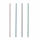 100 x  200 Trinkhalme, Papier Ø 6 mm · 21 cm farbig sortiert