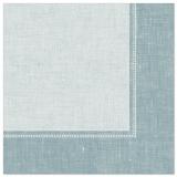 5 x  50 Servietten ROYAL Collection 1/4-Falz 40 cm x 40 cm arktikblau Linum