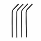 10 x  100 Trinkhalme, Papier Ø 6 mm · 22 cm schwarz flexibel