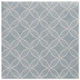 5 x  50 Servietten ROYAL Collection 1/4-Falz 40 cm x 40 cm arktikblau Circle Flowers
