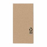 6 x  100 Servietten, 3-lagig 1/8-Falz 33 cm x 33 cm natur aus recyceltem Papier