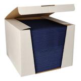 100 Servietten ROYAL Collection 1/4-Falz 40 cm x 40 cm dunkelblau