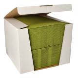 100 Servietten ROYAL Collection 1/4-Falz 40 cm x 40 cm olivgrün