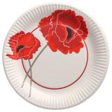 20 x  10 Teller, Pappe rund Ø 23 cm Poppy