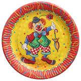 20 x  10 Teller, Pappe rund Ø 23 cm Clown