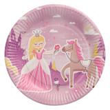 20 x  10 Teller, Pappe rund Ø 23 cm Fairytale Princess