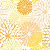 10 x  20 Servietten, 3-lagig 1/4-Falz 40 cm x 40 cm gelb Floralies