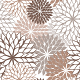 10 x  20 Servietten, 3-lagig 1/4-Falz 40 cm x 40 cm taupe Floralies