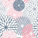 10 x  20 Servietten, 3-lagig 1/4-Falz 40 cm x 40 cm grau Floralies