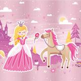 10 x  20 Servietten, 3-lagig 1/4-Falz 33 cm x 33 cm Fairytale Princess