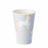 14 x  10 Trinkbecher, Pappe 0,2 l Ø 7 cm · 9,7 cm Unicorn