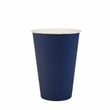 15 x  20 Trinkbecher, Pappe 0,2 l Ø 7 cm · 9,7 cm dunkelblau