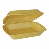 2 x  100 Menüboxen mit Klappdeckel, XPS ungeteilt 7,5 cm x 24,3 cm x 20,8 cm gold