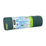 15 x  25 Müllsäcke mit Zugband, LDPE blauer Engel 60 l 71 cm x 64 cm grün/schwarz