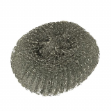 3 x  10 Topfreiniger, Draht rund Ø 13 cm · 4,5 cm silber , kratzend