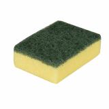 20 x  3 Topfreiniger, Schwamm eckig 2,6 cm x 9 cm x 6,6 cm gelb/grün , kratzend