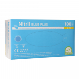 10 x  100 Medi-Inn® Handschuhe, Nitril puderfrei Blue Plus blau Größe S