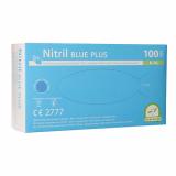 10 x  100 Medi-Inn® Handschuhe, Nitril puderfrei Blue Plus blau Größe L