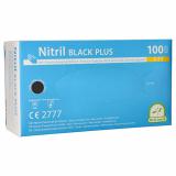 10 x  100 Medi-Inn® PS Handschuhe, Nitril puderfrei Black Plus schwarz Größe S