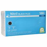 10 x  100 Medi-Inn® PS Handschuhe, Nitril puderfrei Black Plus schwarz Größe M