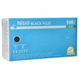 10 x  100 Medi-Inn® PS Handschuhe, Nitril puderfrei Black Plus schwarz Größe L