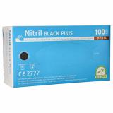 10 x  100 Medi-Inn® PS Handschuhe, Nitril puderfrei Black Plus schwarz Größe XL