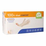 10 x  100 Medi-Inn® PS Handschuhe, Vinyl puderfrei Comfort Größe L