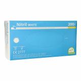 10 x  200 Medi-Inn® Handschuhe, Nitril puderfrei White weiss Größe S