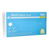 10 x  100 Medi-Inn® PS Handschuhe, Nitril puderfrei White Plus weiss Größe S