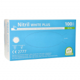10 x  100 Medi-Inn® PS Handschuhe, Nitril puderfrei White Plus weiss Größe L