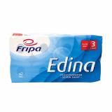 9 x  8 Rollen Toilettenpapier, 3-lagiges Tissue Ø 12 cm · 11 cm x 9,4 cm hochweiss Edina 250 Blatt