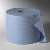 2 Rollen Putzrollen, 2-lagig Ø 29 cm · 38 cm x 22 cm blau 1.000 Abrisse, Hülse Ø 7 cm