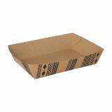 400 Snacktrays, Pappe 4,1 cm x 14,5 cm x 19,8 cm braun Maori extra groß