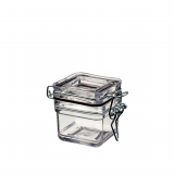 16 x  Fingerfood - Becher, PS 60 ml 4,2 cm x 5 cm x 5 cm glasklar Pot Tradition mit Deckel