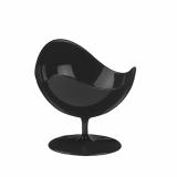 5 x  2 Fingerfood - Becher, PS rund 50 ml Ø 7 cm · 6,8 cm schwarz Ball Chair