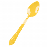 12 x  25 Fingerfood - Löffel, PS 9,5 cm x 2 cm x 0,88 cm gelb Baroque