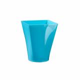6 x  4 Fingerfood - Becher, PS eckig 150 ml 7,5 cm x 5,8 cm x 5,8 cm hellblau Gustav