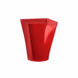 6 x  4 Fingerfood - Becher, PS eckig 150 ml 7,5 cm x 5,8 cm x 5,8 cm rot Gustav