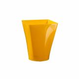 6 x  4 Fingerfood - Becher, PS eckig 150 ml 7,5 cm x 5,8 cm x 5,8 cm orange Gustav