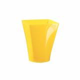 6 x  4 Fingerfood - Becher, PS eckig 150 ml 7,5 cm x 5,8 cm x 5,8 cm gelb Gustav